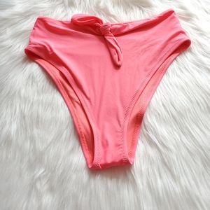Aerie Swim High Waisted High Cut Bow Bikini Bottom